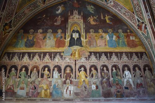 Trionfo di San Tommaso D'Aquino - Firenze - Santa Maria Novella Canvas Print