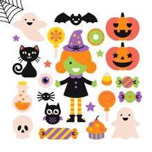 Halloween Holiday Elements Set