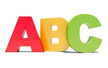 ABC Colored Alphabet Letters