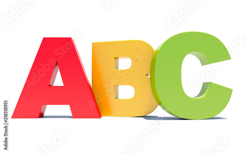 ABC colored alphabet letters Canvas Print