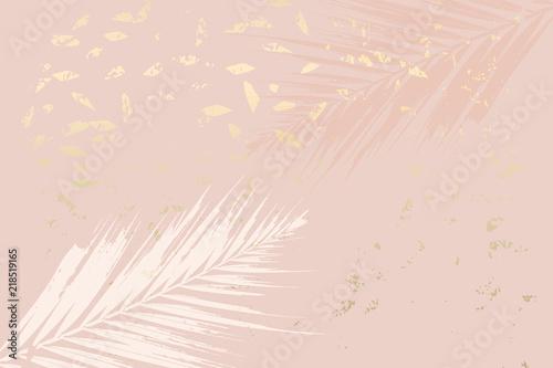 Fotografía Autumn abstract foliage rose gold blush background