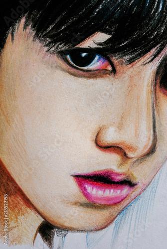 Fotografie, Obraz  Korean boy