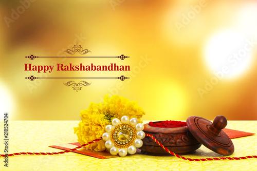 фотография Raksha bandhan Close up of rakhi with kumkum