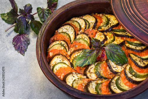Vegetable ratatouille.