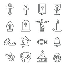 Christian Related Icons: Thin ...