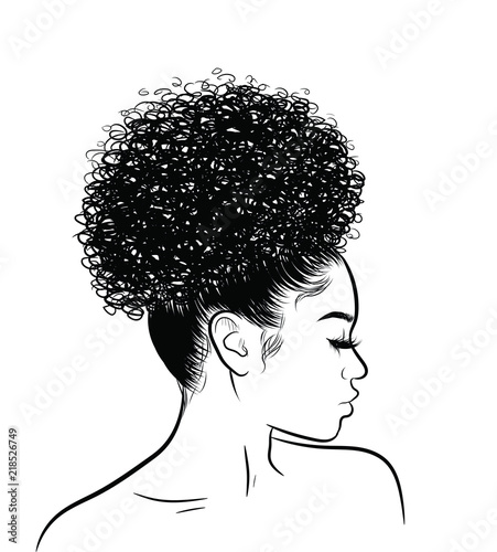 Photo Curly beauty girl illustration isolated on clear background