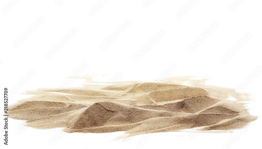 Fototapeta sand pile isolated on white background