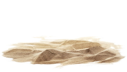 Fototapeta na wymiar sand pile isolated on white background