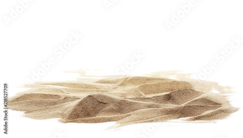 Photo sand pile isolated on white background