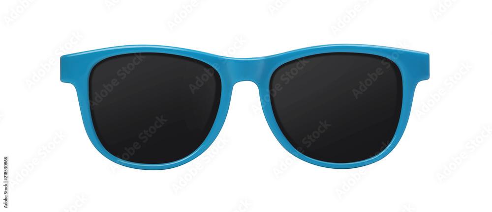 Fototapeta blue sunglasses