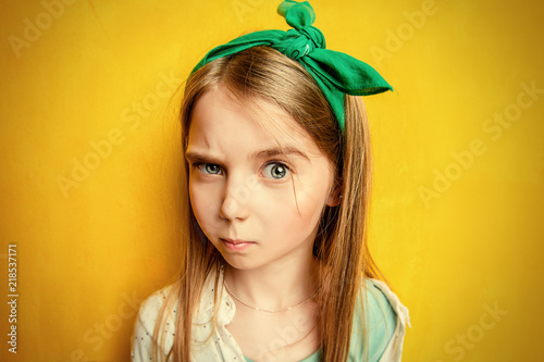 Fotografie, Obraz  emotional child girl