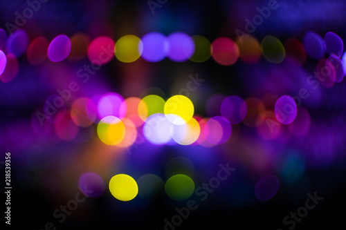 Abstraction with blurry colorful light circles