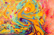 canvas print picture - Abstract marbling art patterns as colorful background