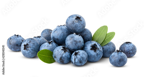 Leinwand Poster blueberry, clipping path, isolated on white background, full depth of field, hig