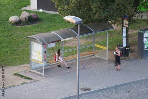 Przystanek autobusowy - fototapety na wymiar
