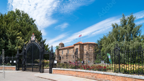 Gated Entrance to Colchester Castle Wallpaper Mural