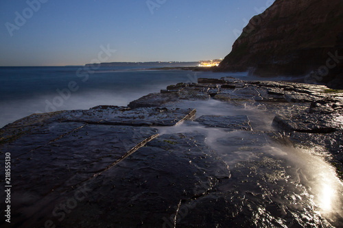 Foto op Aluminium Oceanië Bogie Hole - Rock Platform Newcastle Australia. This rock platform and ocean pool is a popular Newcastle Landmark in Australia's second oldest city. Newcastle Australia
