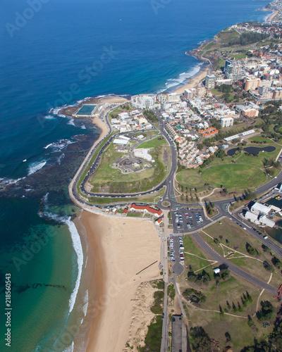 Nobbys Beach - Newcastle Australia Aerial View  Newcastle is