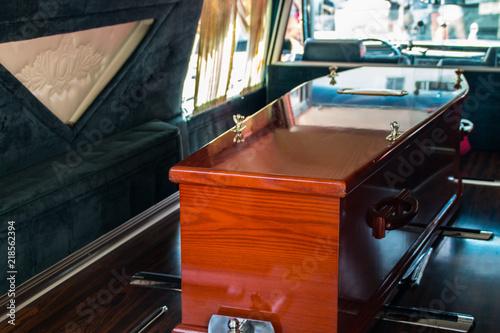 Photo  Coffin in Hearse