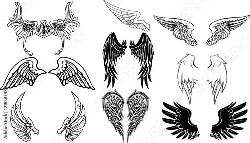 天使の翼のグラフィック素材 Wallpaper Mural