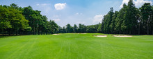 Panorama View Of Golf Course W...
