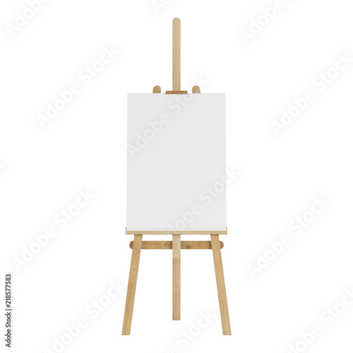 Tablou Canvas Wooden easel with an empty mockup