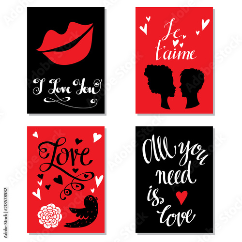 Photo  Greeting valentines day cards