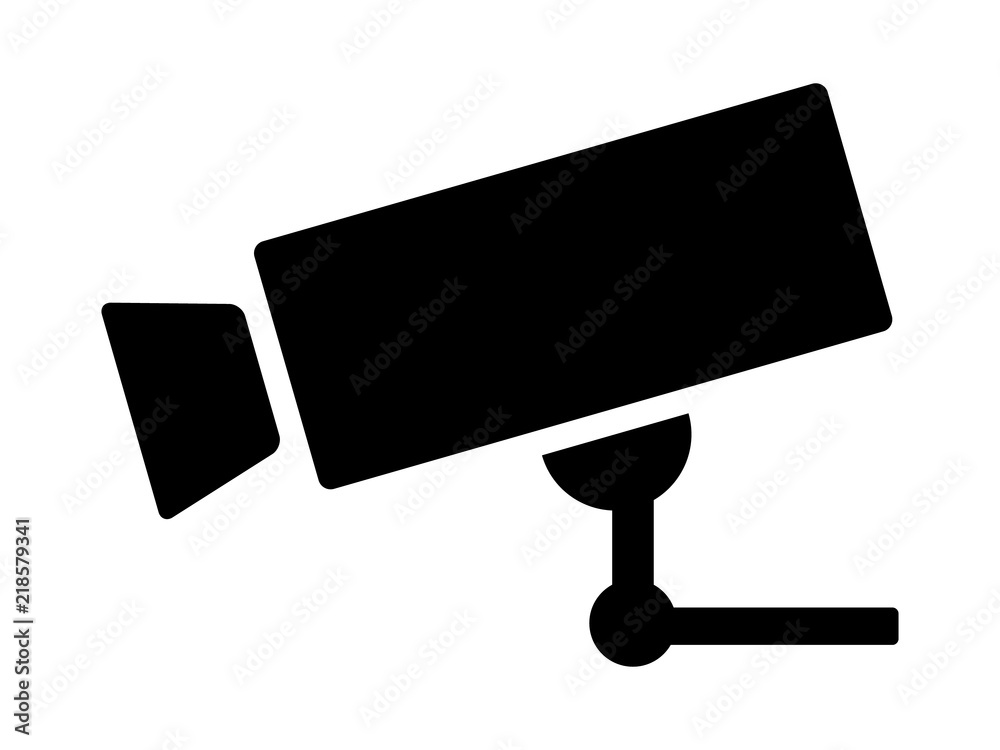 Fototapeta Security surveillance video camera or closed circuit television / CCTV flat vector icon for apps and websites