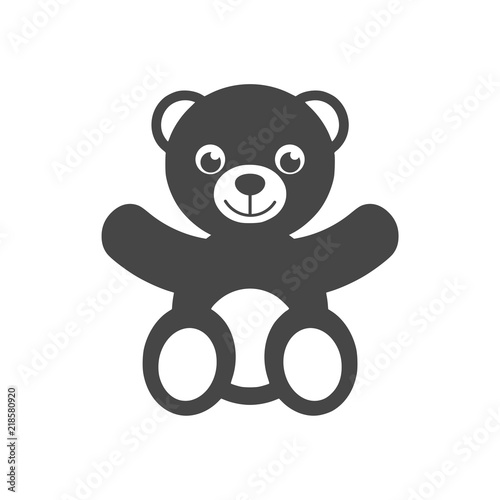 Cute smiling teddy bear icon or logo #218580920