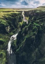 Icelandic Green Hills And Panoramas