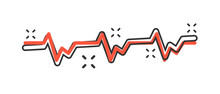 Vector Cartoon Heartbeat Line ...