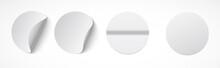 Set Of Round White Sticky Labe...