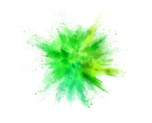 Explosion Of Coloured Powder I...