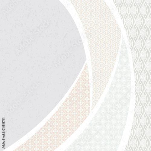 Fotografie, Obraz  日本の伝統文様。 和風の背景素材。