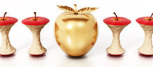 Golden Apple Standing Out Amon...