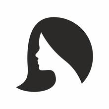 Woman, Hair Vector Icon