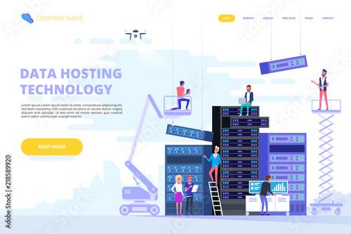 Fotomural Data center and hosting. Network internet database