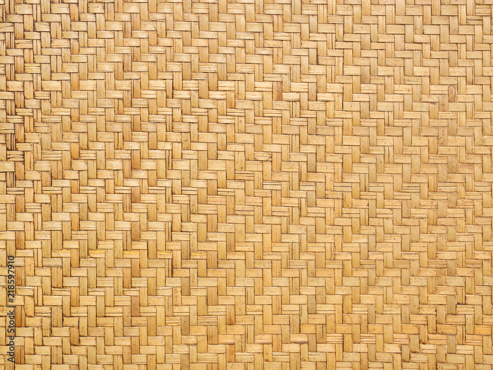 Fototapety, obrazy: Close up image of traditional wicker surface texture pattern for use as background, handcraft weave for funiture material