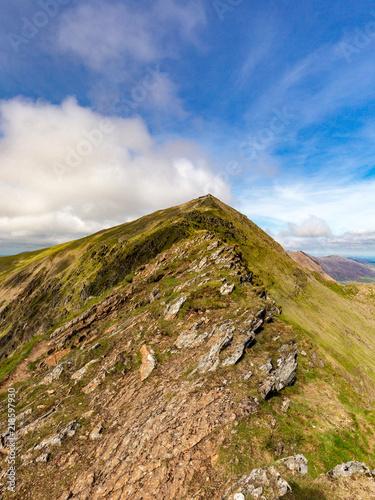 Snowdonia Hill Landscape National Park in Wales at Mount Snowdon Fototapeta