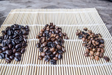 Roasted Coffee Beans Of Three ...
