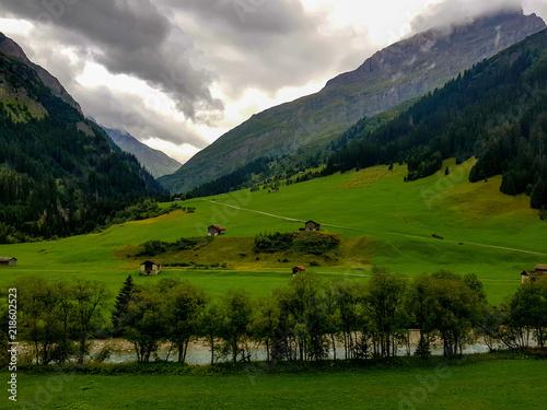 Foto op Plexiglas Panoramafoto s San Bernadino in Switzerland