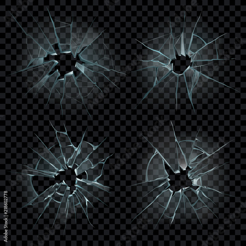 Fotografía  Realistic cracked glass