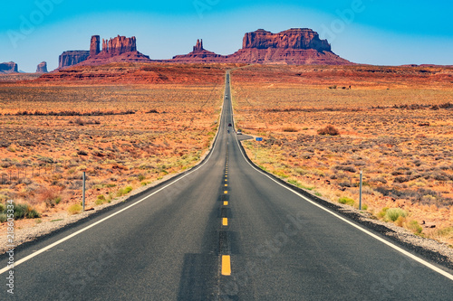 Canvas Prints Route 66 Road to Monument Valley, Utah