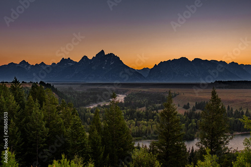 Aluminium Prints Mountains The Tetons and the Snake River, Wyoming