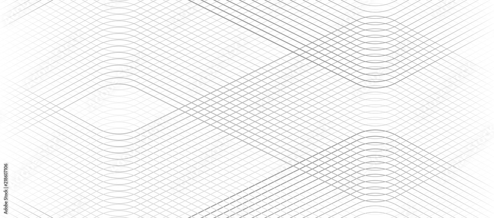 Fototapety, obrazy: Vector Illustration of the gray pattern of lines abstract background. EPS10.