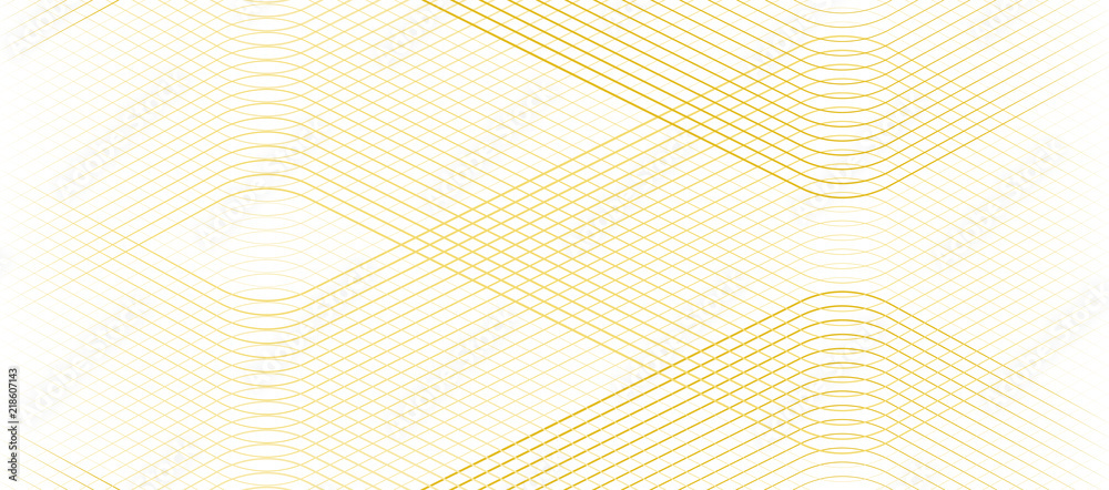 Fototapeta Vector Illustration of the gold pattern of lines abstract background. EPS10.