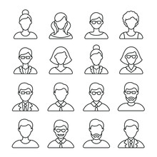 People Related Icons: Thin Vec...