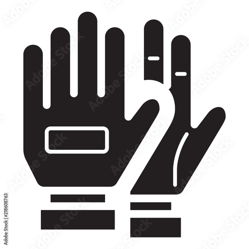 Leinwand Poster Simple Soccer Gloves Related Vector Flat Icon