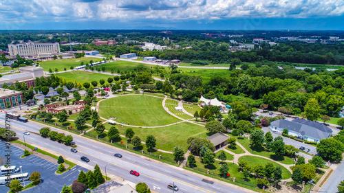 Fotografie, Tablou Aerial of Barnet Park in Spartanburg South Carolina SC