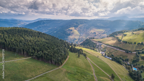 Papiers peints Alpes Landscape and the top view of the countryside in Germany